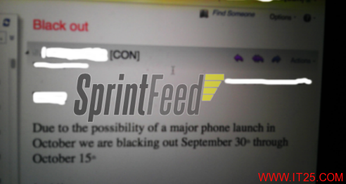iPhone5或在10月15日前发布
